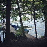 jezioro, łódka